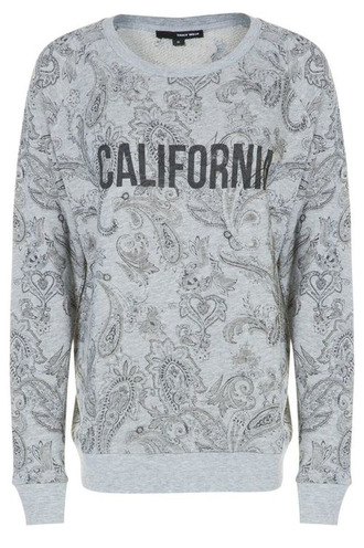 sweater california pullover grey