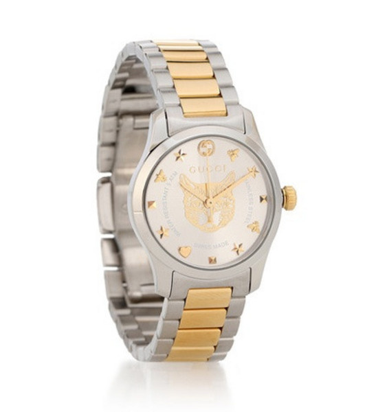 Gucci G-Timeless 27mm stainless steel watch in silver