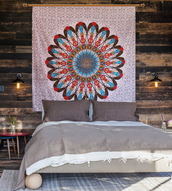 home accessory,colorful wall tapestry,hippie tapestry,mandala,bedsheet,bedroom,wall hanging,boho,tapestry,dorm tapestry
