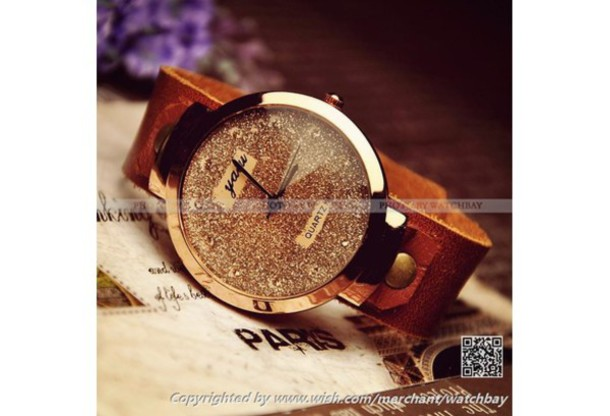 Jewels Watch Leather Watches For Women Girl Jewelry Fashion Cuff Gifts Her Valentine