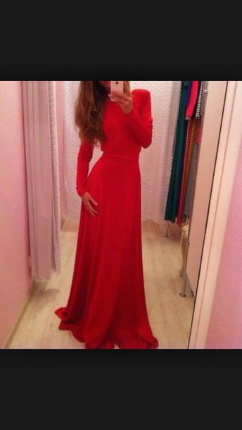 Dress Prom Dress Gown Evening Dress Red Dress Red Prom Dress Tumblr Outfit Tumblr Dress ...