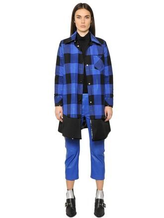 jacket vinyl cotton blue black