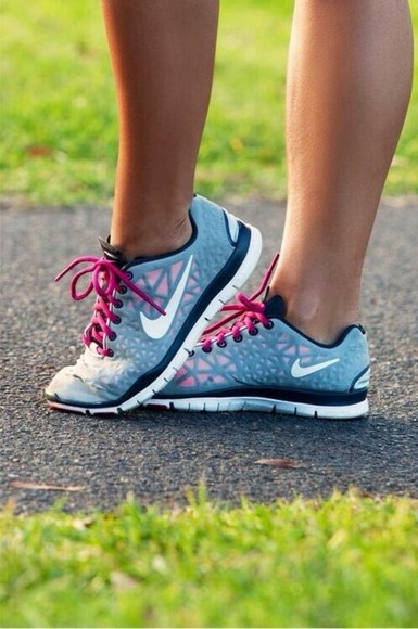 pink shoes light blue nike nike running shoes
