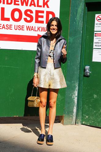 man repeller blogger underwear shirt shorts shoes bag