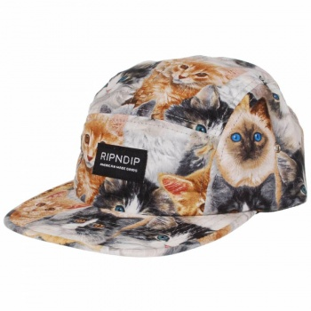 Rip N Dip Rip N' Dip Nermal 5 Panel Cap - Nermal All Over Cat Print - Rip N Dip from Native Skate Store UK