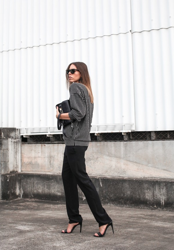 modern legacy sweater pants shoes bag sunglasses