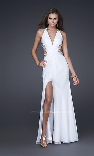 Hand painted evening dress 16288 by la femme