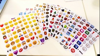 home accessory stickers autocollants emoji print smiley smileys apple smiley