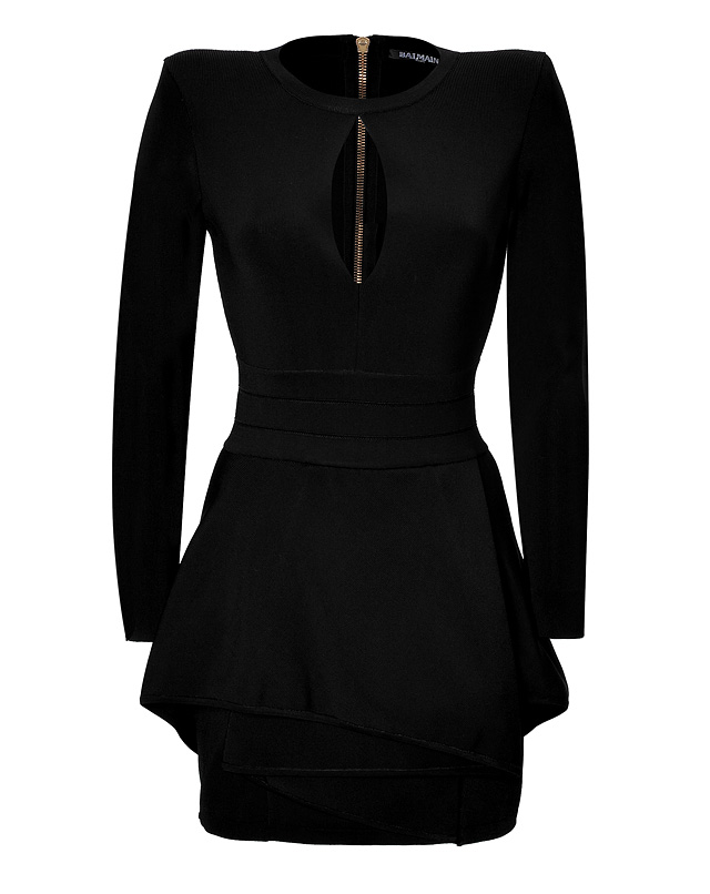 Balmain - Viscose Peplum Dress