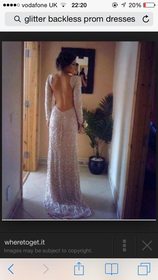 dress sequin open back formal dress dress long sleeve open back formal ...