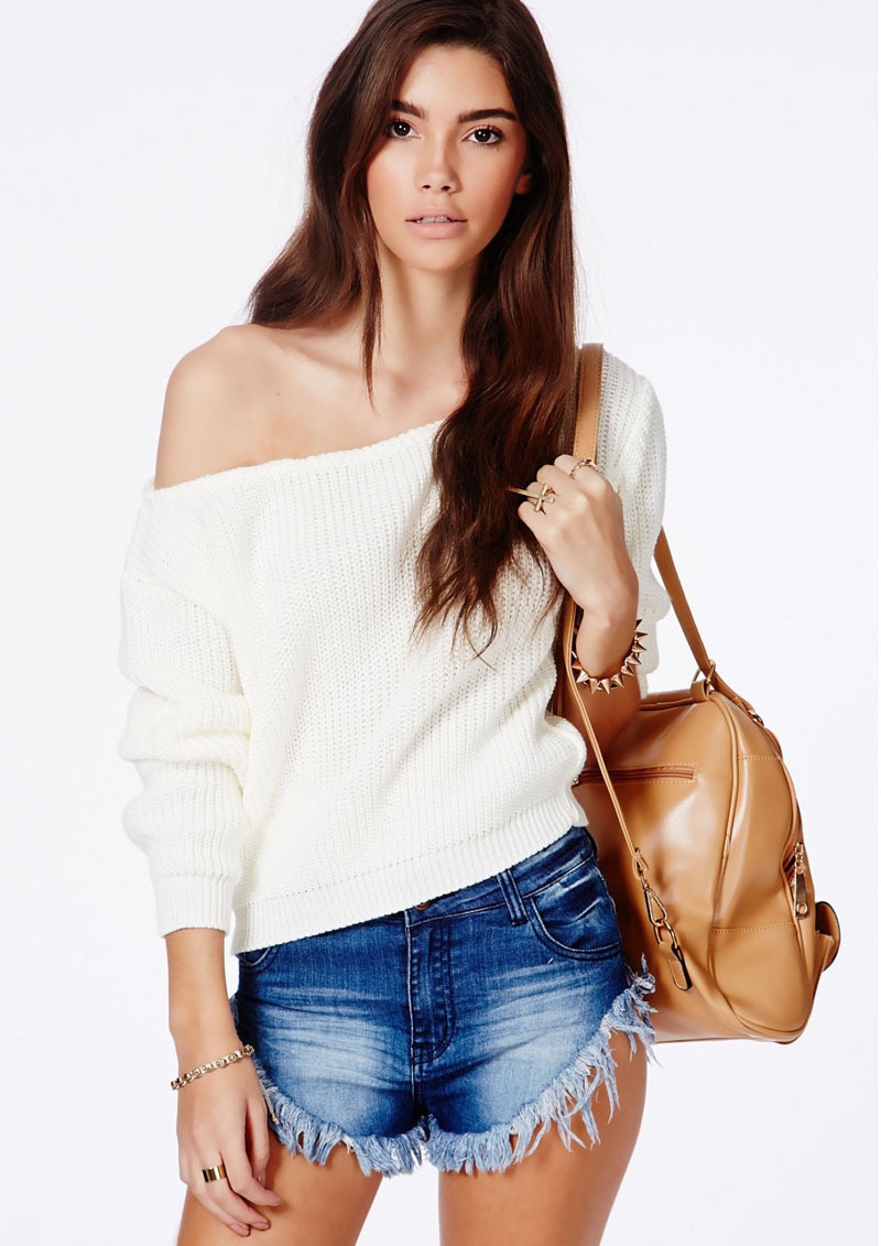Krista one shoulder white sweater · fashion struck · online store powered by storenvy