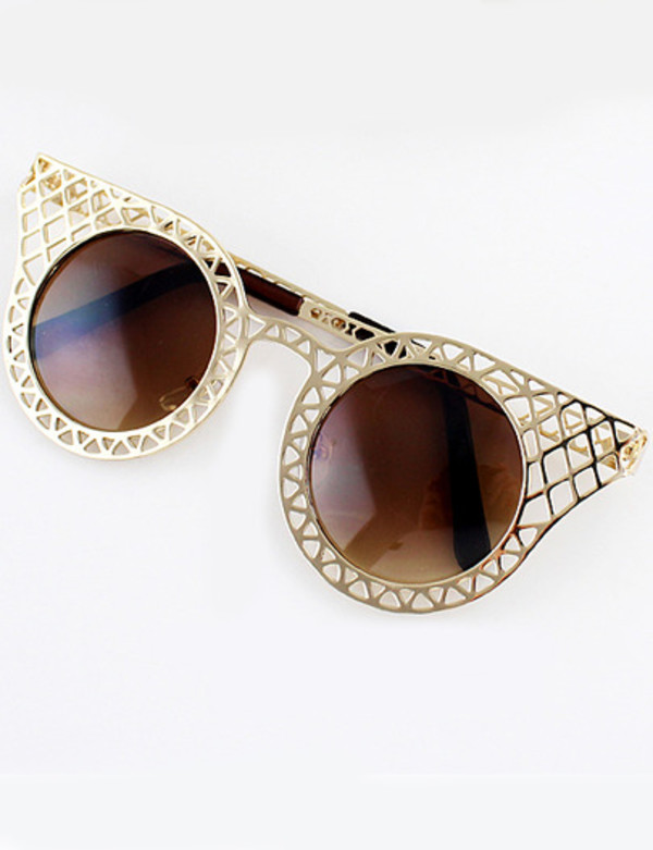 sunglasses gold boho grunge