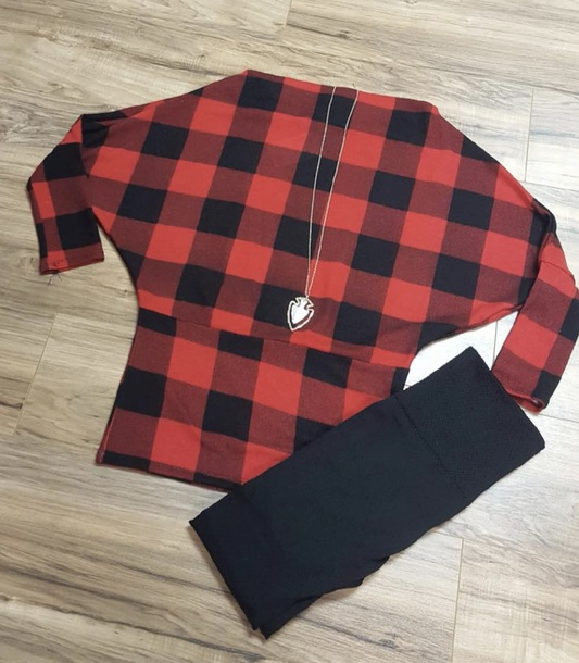 shirt red and black plaid