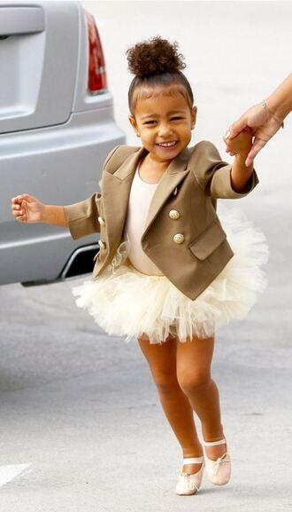 jacket kids fashion ballet north west kardashians