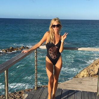 swimwear frankies bikini black one piece one piece swimsuit black one piece black swimwear crochet macrame detail braided braided straps cheeky skimpy bottom