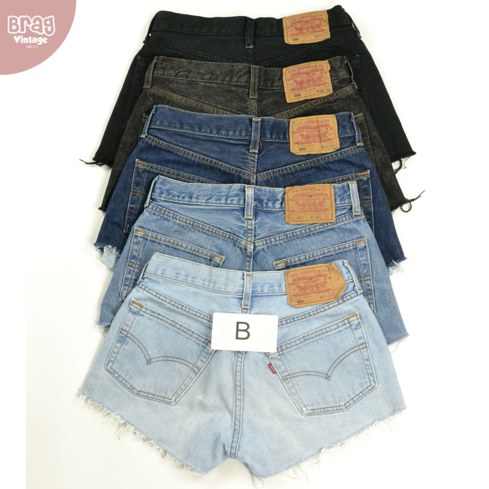 Vintage Womens Levis Denim Shorts (GRADE B) High Waisted Hotpants 6 8 10 12 14 | eBay