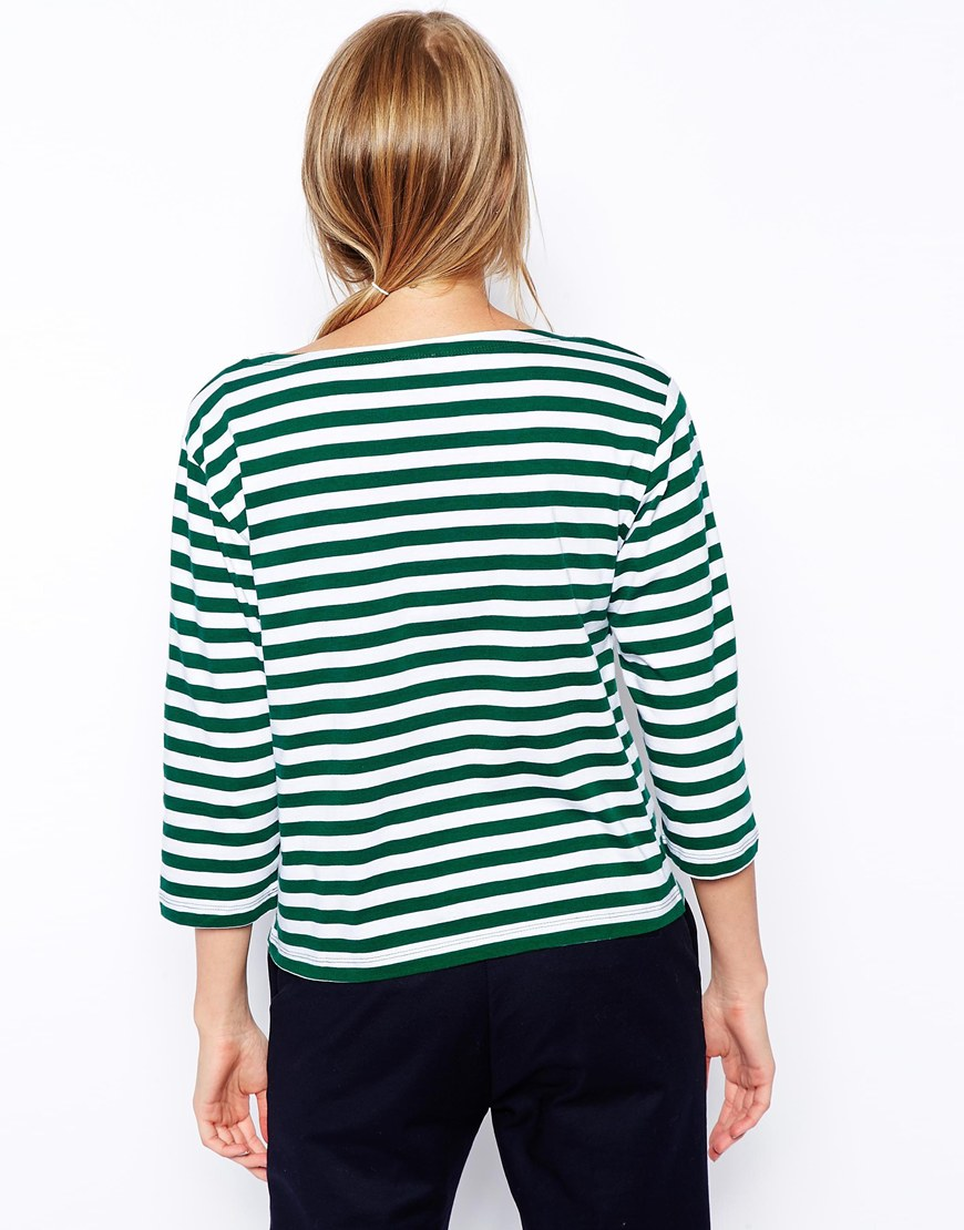 ASOS Striped Top with Pocket at asos.com