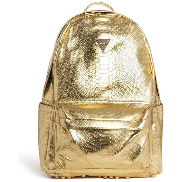 Joyrich Metallic Faux Python Backpack - Polyvore