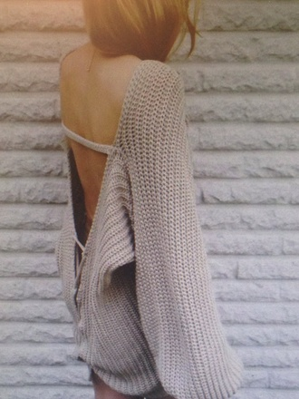 sweater pinterest oversized cozy winter outfits warm open back
