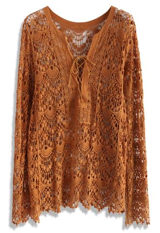 top crochet all the way tunic in tan chicwish crochet top crochet tunic summer tunic summer top tan top lace top tan tee lace tank top