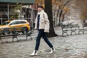 garance dore,blogger,coat,blouse,jeans,shoes,bag,jewels,fur coat,ankle boots,shoulder bag,winter outfits,beige fur jacket
