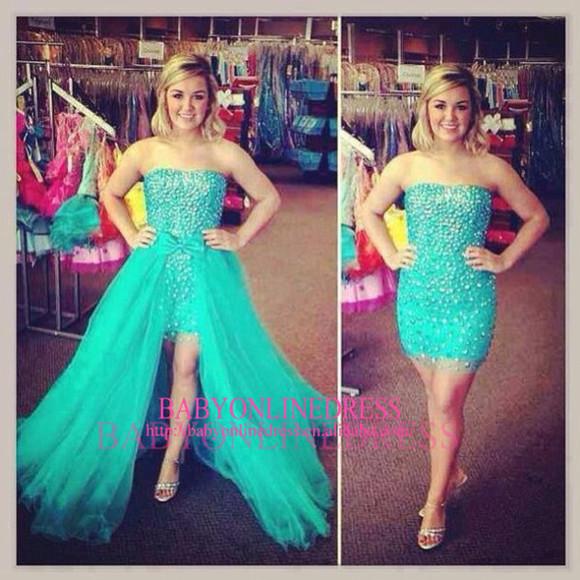 prom dress detachable prom dress beaded dress