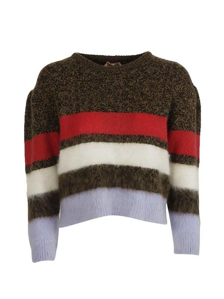 N.21 sweater wool sweater mohair wool beige