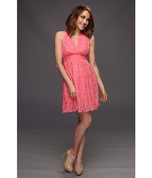 dress pink dress glitter dress