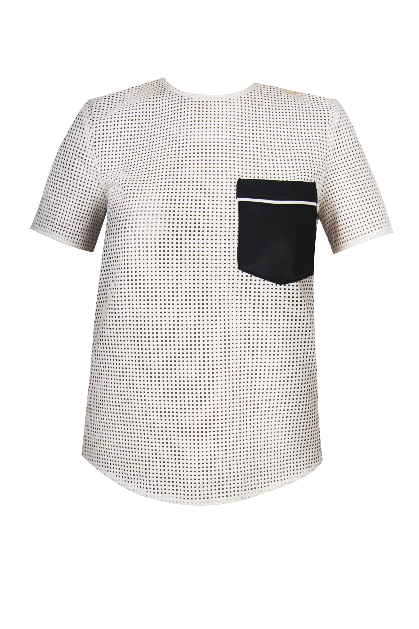 Structured White Tee by Self Portrait - Styligion.com