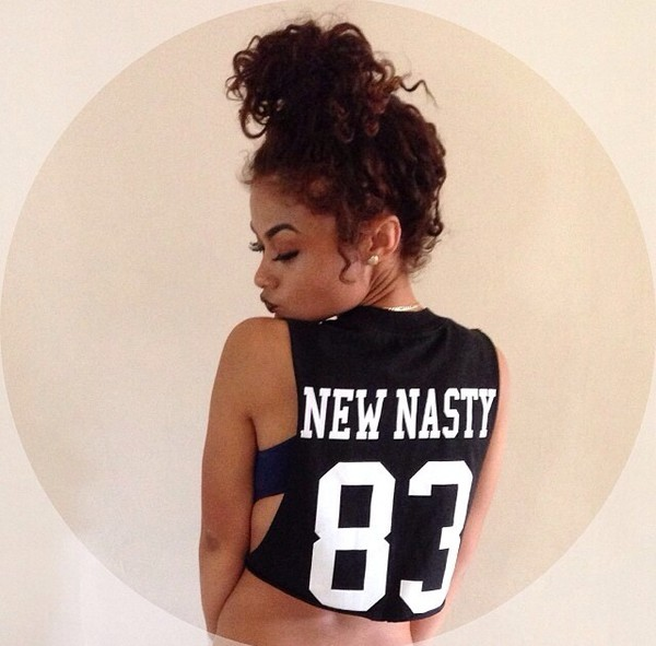 shirt bun curly bun new nasty india westbrooks
