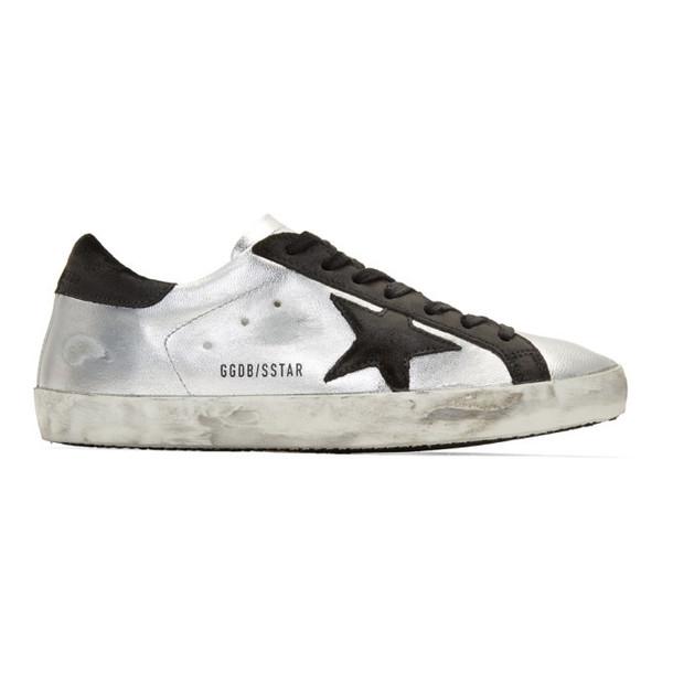 Golden Goose Silver & Black Superstar Sneakers