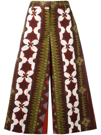 pants palazzo pants women cotton print red