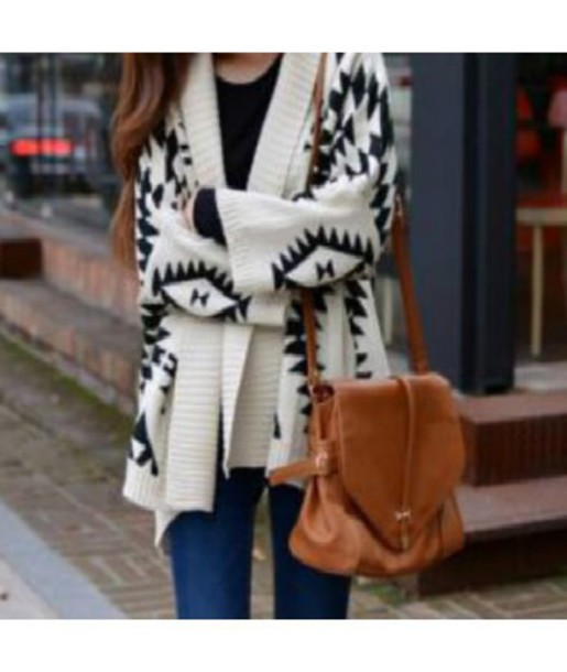 00019434462fc cardigan knitwear sweater boho geometric autumn/winter fall outfits fall  sweater hipster casual casual chic