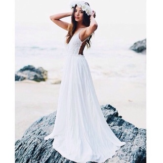 wedding dress white dress hipster wedding beach wedding