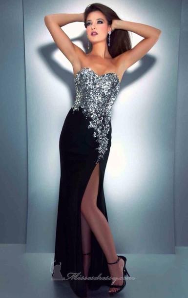 dress black silver