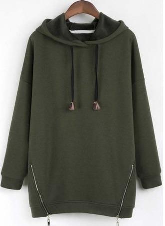 sweater hoodie olive green khaki zip