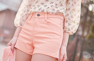 blouse short high waisted shorts