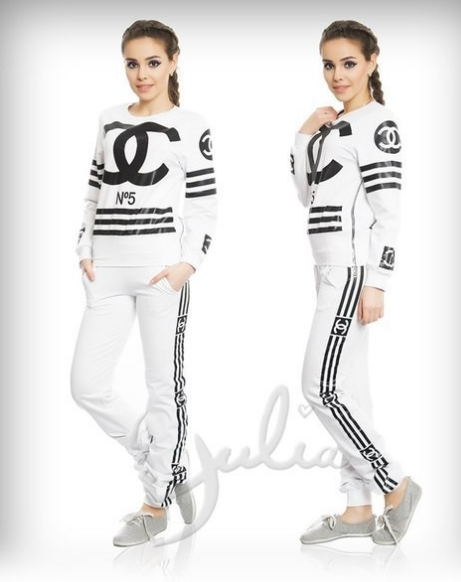 Chanel inspired coco no.5 long sleeves tracksuit set