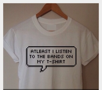 shirt white t-shirt band t-shirt