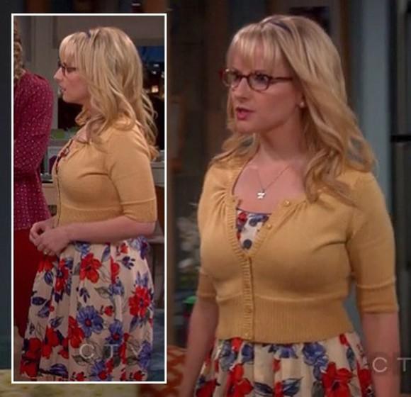 floral dress bernadette big bang theory cardigan melissa rauch