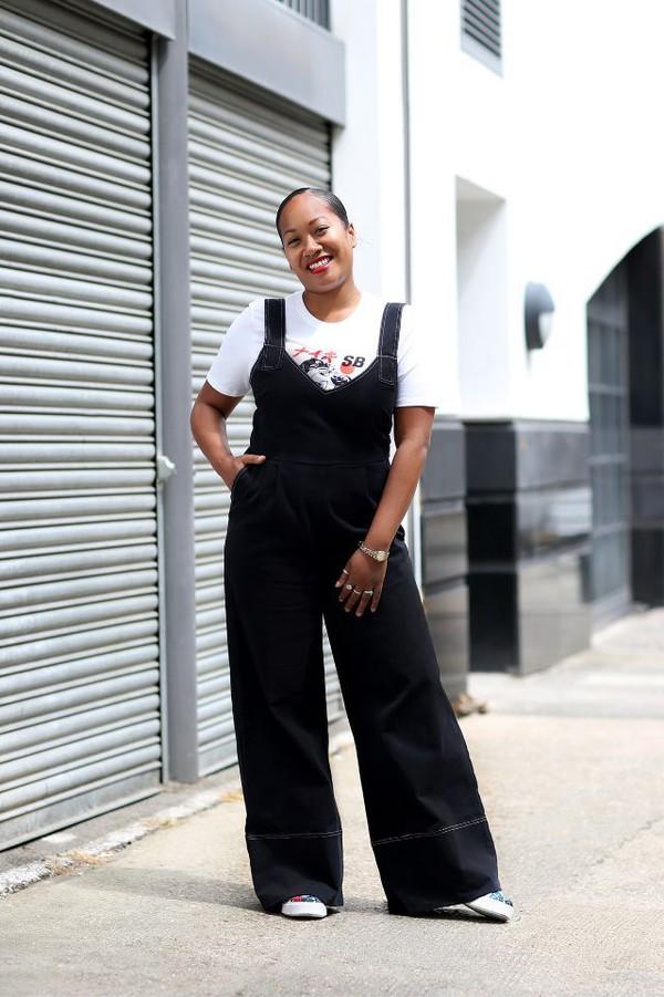 jumpsuit top black jumpsuit overalls black overalls shoes white top