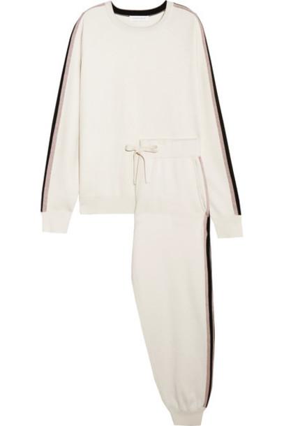 Olivia von Halle pants track pants silk
