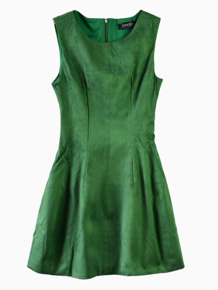 Sleeveless Mini Dress In Green | Choies