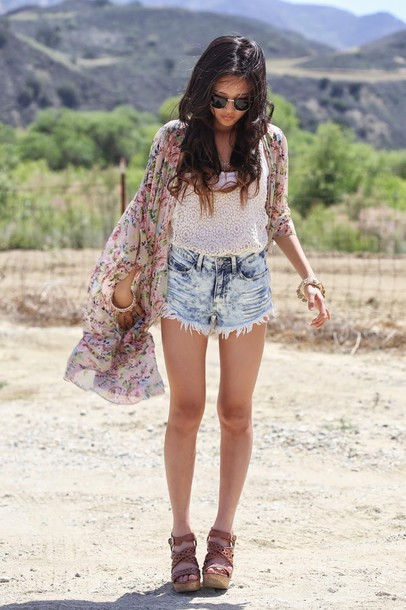 a flower child sunglasses top shoes jewels
