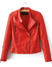jacket,moto,biker,brenda-shop,36683,red,coat,zip,cool,faux leather,leather jacket