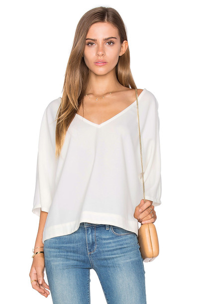 98b43e2fc4 cupcakes and cashmere Orlando Blouse in ivory - Wheretoget