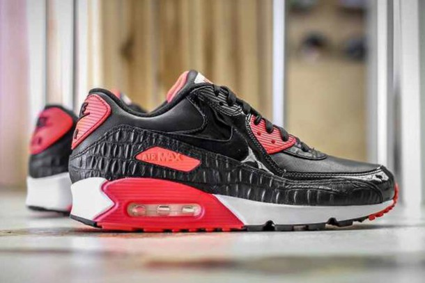 info for 7c100 ef757 shoes black red infrared croc nike nike shoes nike air max 90