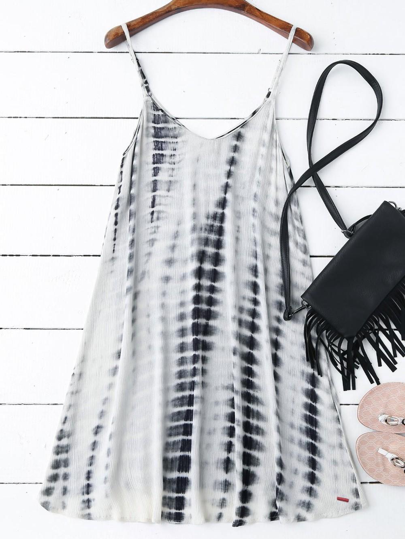 Zaful Tie-Dyed Trapeze Slip Dress