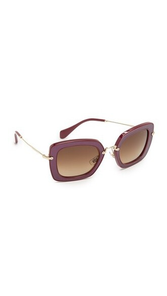 sunglasses leather brown
