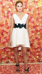 dress,white dress,little white dress,white,sandals,olivia culpo